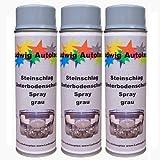 3 x 500 ml Spray Steinschlagschutz grau überlackierbar mit Autolack