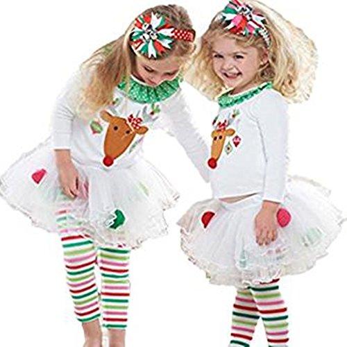Mädchen Santa Kostüme Cute (Mädchen kleider Xinan Cute Weihnachten Kleinkind Santa Dress (110,)