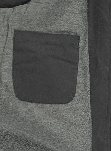 SOLID Dry Herren Weste Steppweste mit Kapuze aus hochwertiger Baumwollmischung Dark Grey