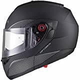 Black Optimus SV Motorrad Roller Klapphelm XXL Matt Black - 5