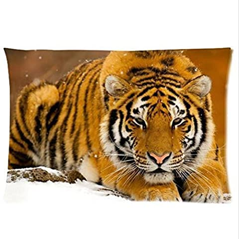 Charming Frame-The Lazy Tiger Pattern Design Pillowcase,Twin Sides Pillowcase Pillow Cover 20x30 inches