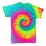 Colortone - Unisex Batik T-Shirt 'Swirl' / Minty Rainbow, XL