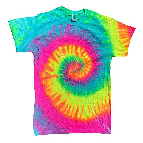 Colortone - Unisex Batik T-Shirt 'Swirl' / Minty Rainbow, M -