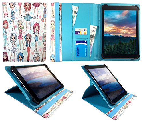 Denver TAQ-90052 9 inch Tablet Nettes Mädchen Universal 360 Grad Drehung PU Leder Tasche Schutzhülle Case ( 9 - 10 zoll ) von Sweet Tech (9 Zoll Tablet Tasche Für Mädchen)