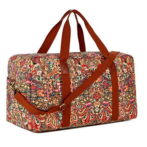 BAOSHA Damen Reisetasche Handgepäck Travel Duffels Weekender Sporttasche mit Großen Kapazität HB-32 (Mehrfarbig)