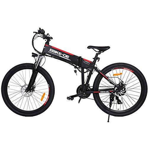 keelied 36V 26 Zoll Urban E-Bike 250W Das-Kit Heckmotor, Elektrofahrrad, Herren & Damen Pedelec, E-Bike, Folding Elektrofahrrad, City Elektrofahrrad, 25~28 km/h, schwarz
