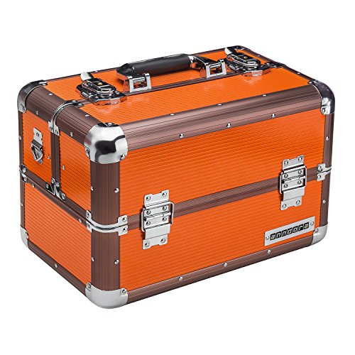 Beauty Case Kosmetikkoffer Schmuckkoffer 20 Liter Aluminium Rahmen - orange
