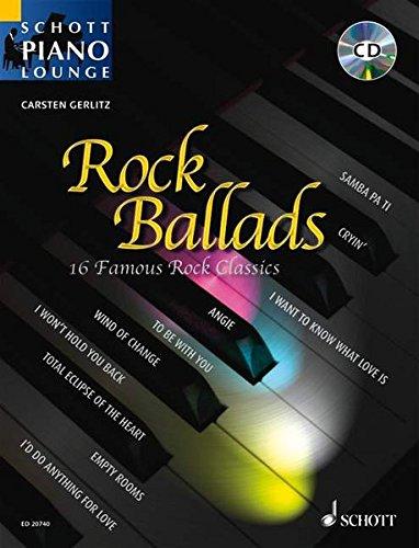 Rock Ballads 1: 16 berühmte Rock-Klassiker. Klavier. Ausgabe mit CD. (Schott Piano Lounge) (Lauten Rock)