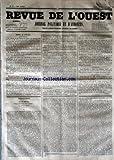 Telecharger Livres REVUE DE L OUEST No 87 du 21 07 1853 JOURNAL POLITIQUE ET D ANNONCES (PDF,EPUB,MOBI) gratuits en Francaise