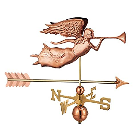 Good Directions Angel with Arrow Weathervane - Pure Copper
