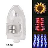#7: Generic Yellow : Christmas Sale 12Pcs Mini LED Party Lights for Lantern Small Balloon Light Floral Mini Led Lights for Wedding Party Glass Vases