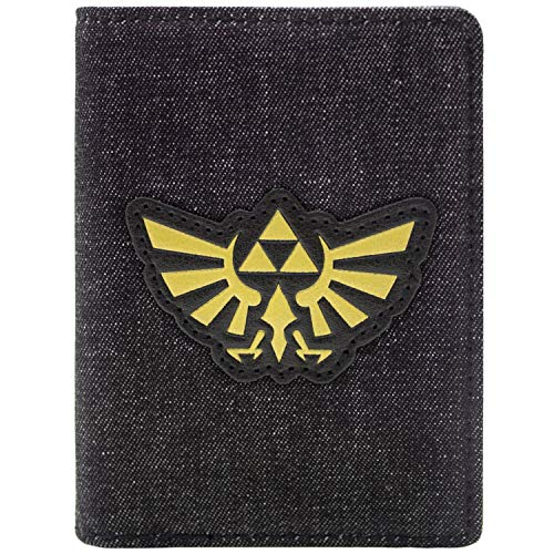 Legend of Zelda Gold Tri-Force Grau Portemonnaie - Tris Kostüm Kinder
