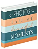 Walther Design Livre Album Moments, Reliure Design Photos, Album 30 x 30 cm, en Plastique, Bleu, 30 x 5 x 31 cm