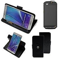 360 ° della copertura della cassa Smartphone Cat S60, nero | Cassa del raccoglitore stand funzione Bookstyle. Migliore prezzo, migliore prestazione - K-S-Trade