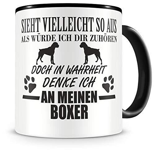 Samunshi Ich denke an meinen Boxer Hunde Tasse Kaffeetasse Teetasse Kaffeepott Kaffeebecher Becher