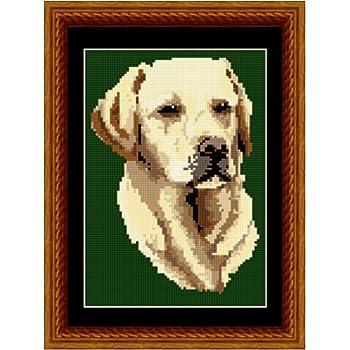Brigantia Needlework Golden Labrador Tapestry Picture Kit in Tent Stitch
