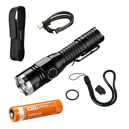 Preisvergleich Produktbild Das Set für USB aufladbare taktische Taschenlampe,Cree LED 1060 LM wiederaufladbare wasserdichte taktische Taschenlampe,18650 Li-Ionbatterie-Nitenumen TP22