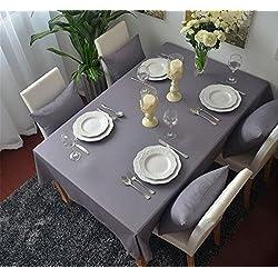 Mantel Rectangular Cubierta Mesa de café de tela Manteles Tela del mantel té 220*140CM Gris Color Algodón