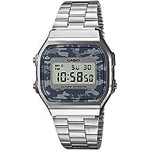 Casio Reloj Analógico para Unisex de Digital con Correa en Cuero A168WEC-1EF