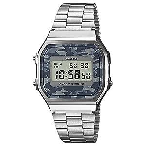 c46c5697074f Casio Reloj Analógico para Unisex de Digital con Correa en Cuero A168WEC-1EF
