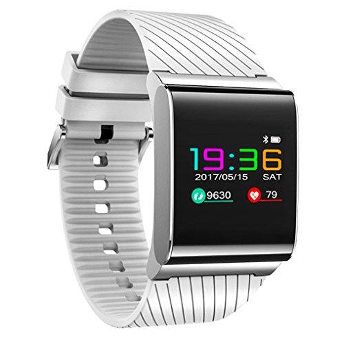 Fitness Tracker Uhr, Zimingu X9 Pro Aktivität Armband Smart Watch mit Herzfrequenz Blutdruck Monitor, IP67 wasserdicht Schrittzähler Schlaf Monitor Activity Tracker für IOS Android Smartphones (weiß)
