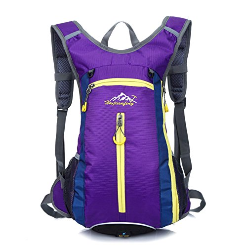 HWJF Reiten einer Fahrradtasche Outdoor Reittasche Wasser Tasche Männer und Frauen Schultern Bergsteigen Rucksack Purple