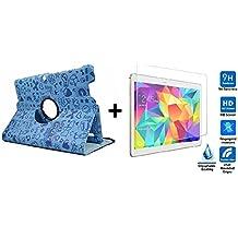 """Funda para Tablet Bq Edison 3 10.1"""" Quad Core. Giratoria 360º Color AZUL DIBUJOS + Cristal Templado"""