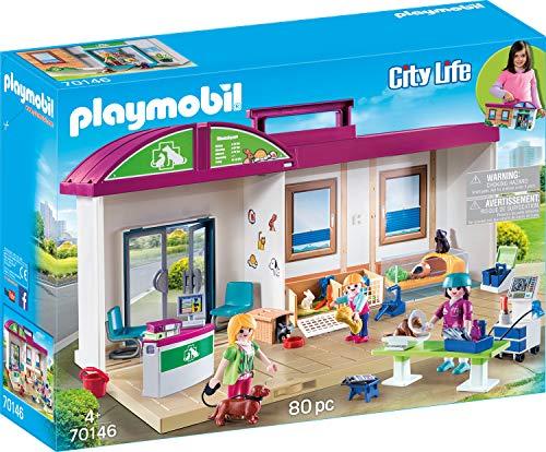 Playmobil 70146 City Life Mitnehm-Tierklinik, bunt