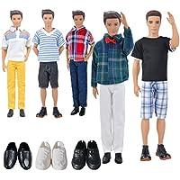 Disfraces de muñecas 3 conjuntos de ropa informal + 3 pares de zapatos para los novios de Barbie Ken (al azar)