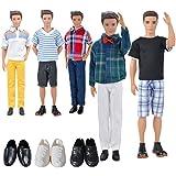Costumi per bambole 3 set Abbigliamento casual + 3 paia di scarpe per Ken Barbie Boyfriends (Casuale)