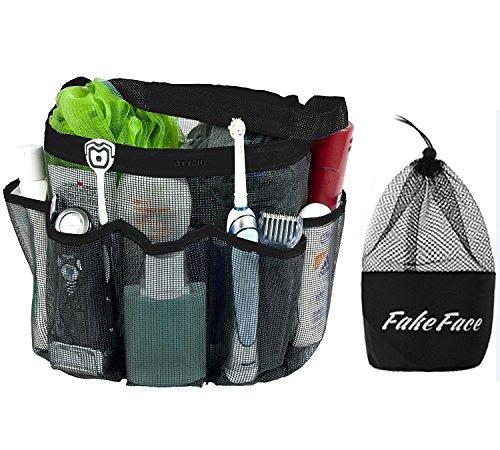 Oxford Duschtasche Dusche Caddy 8 Mesh Taschen schnelltrocknend Waschtasche Netztasche Aufbewahrungstasche Organizer Hängetasche für Reisen und Badezimmer