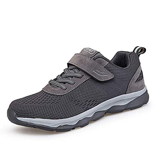 ZTM Donna Uomo Casual Sport Scarpe da Corsa Air Trainers da Jogging Fitness Shock Absorbing Gym Athletic Sneakers,Gray,43EU