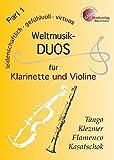 Weltmusik-Duos für Klarinette und Violine Part 1: MVK 171703 ; www.musikverlag-keller.de ; Musikverlag Martin Keller
