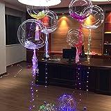 Palloncini luminosi trasparenti TOYMYTOY LED Palloncino con Luce Catena 3M di 24 pollici