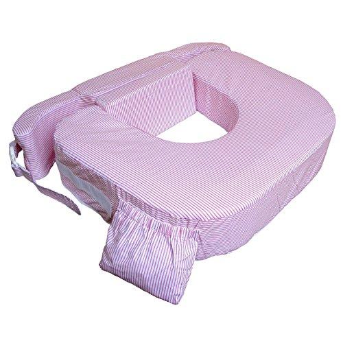 Zwillingskissen Plus rosa-weiß