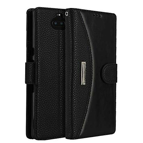 LOKAKA Leder Handyhülle für Sony Xperia 10 Plus, Handyhülle Handystand Kartenfächern L