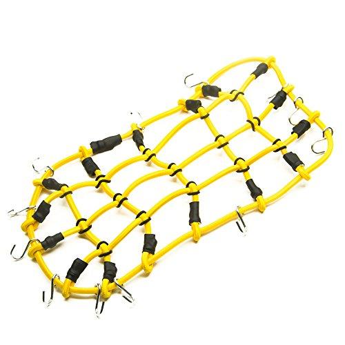 Preisvergleich Produktbild 1 Stück 1:10 RC Elastisch Gepäcknetz mit Haken für 1/10 Crawler Auto Axial RC4WD SCX10 Dachträger (Gelb)