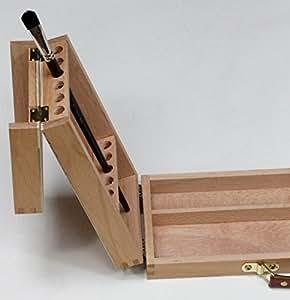 pinselbox mit pinselhalter pinselst nder utensilienkoffer f r k nstlerpinsel pinselkasten. Black Bedroom Furniture Sets. Home Design Ideas