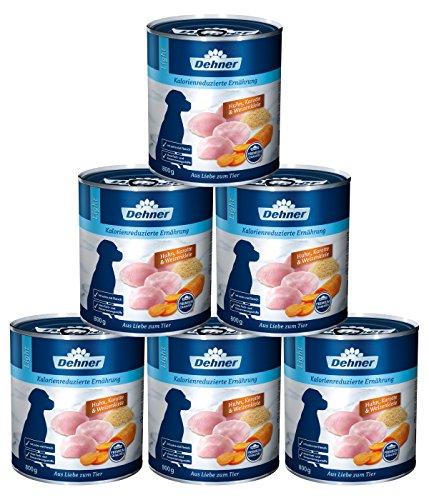 Dehner Selection Cani mangime, Light Pollo, Carote e frumento kleie, 6X 800G (4.8kg)