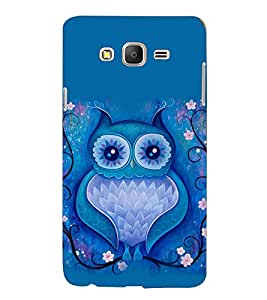 PRINTVISA Abstract Owl Art Case Cover for Samsung Galaxy On 5