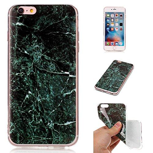 iPhone 6S Plus Hülle Marmor, iPhone 6S Plus Marble Case,iPhone 6 Plus Weich Silikon Handyhülle,Lifetrut Marmor Design Soft Rückseite Stoßstange TPU Gummi Silikon Skin Tasche für iPhone 6S Plus/6 Plus  E204-Grün
