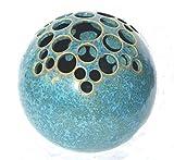 Kugelvase Steckvase Keramik Handarbeit 13 cm