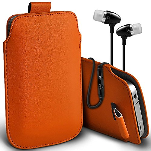 onx3-orange-kodak-ektra-case-slip-in-pull-tab-faux-leather-pouch-case-cover-includes-stereo-aluminiu