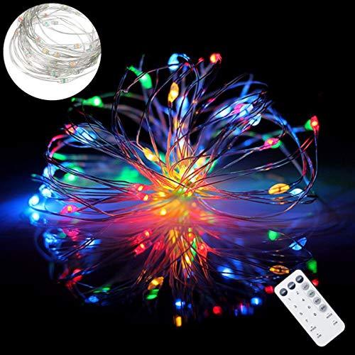 Lichterketten für Zimmer IR-Fernbedienung Battery Powered LED weihnachtsbeleuchtung innen Indoor...