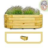 Pflanzkasten 100x40x35 cm Holz imprägniert Pflanzkübel für die Wandaufstellung von Gartenpirat®