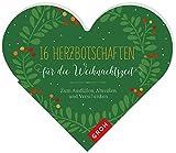 16 Herzbotschaften für die Weihnachtszeit: Zum Ausfüllen und Verschenken