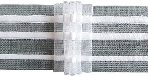 Ruther & Einenkel Faltenband mit 5 Falten, 50 mm, 250% / Aufmachung 10 m, Polyester, transparent, 1000 x 5 x 0.12 cm -