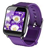 Schermo a colori Braccialetto intelligente GPS da corsa Monitor della frequenza cardiaca Monitor della pressione arteriosa Smart Watch Bluetooth Palestra da polso Pedometro Monitor del sonno,Purple