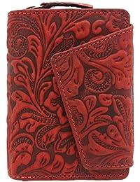 2a55054da50245 außergewöhnliche echt Leder Damen Geldbörse mit Außenriegel Jockey Club  Liane florale Motive, Ranken und Blüten in wunderschöner…