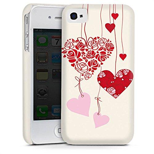 Apple iPhone 5s Housse étui coque protection C½urs Amour Amour Cas Premium mat